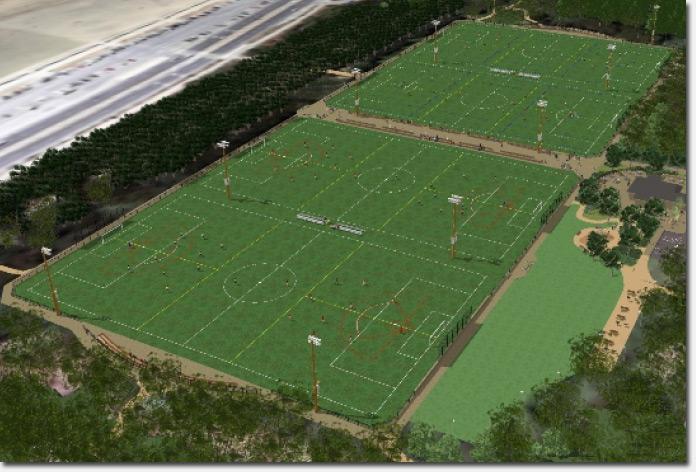 Beach Chalet soccer fields rendering