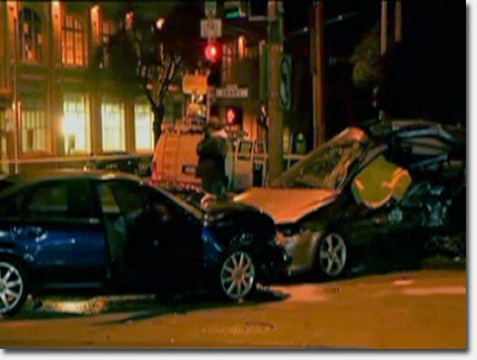 Red light runner causes fatal car crash at Arguello ...