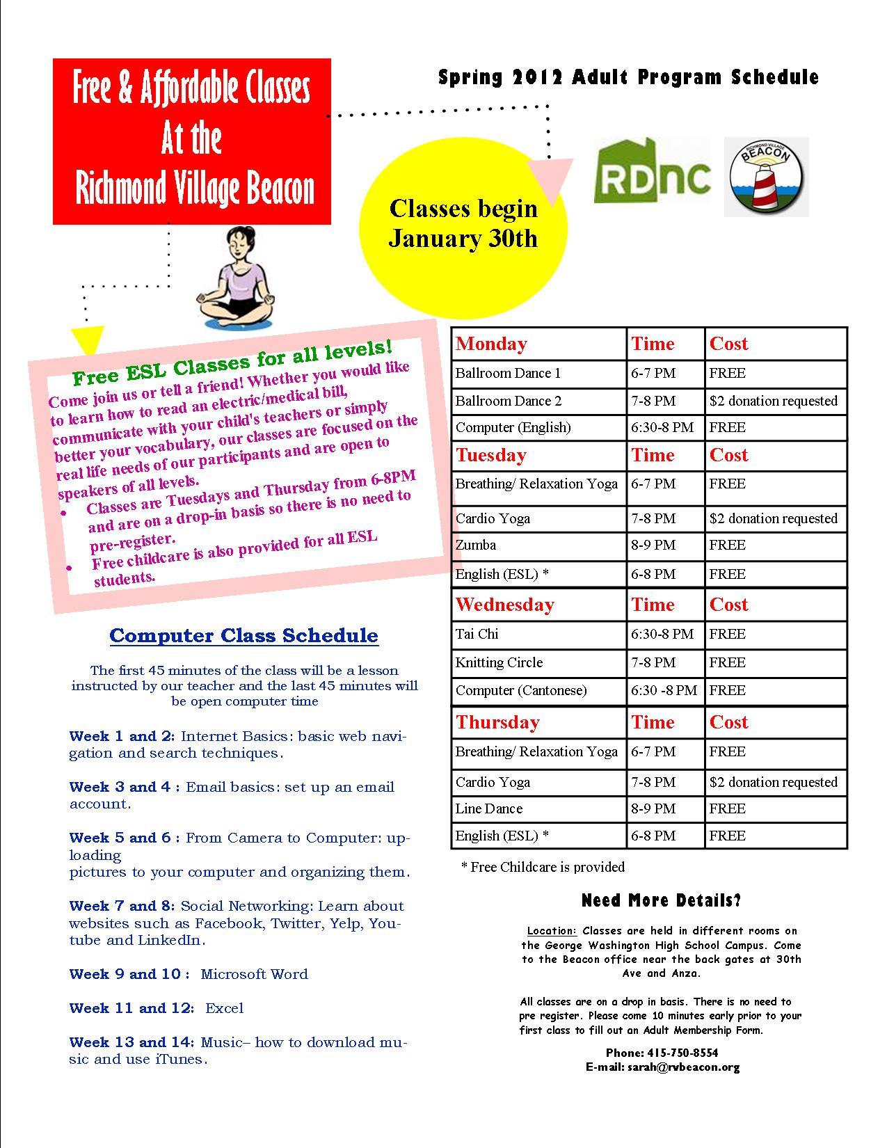 yoga district schedule