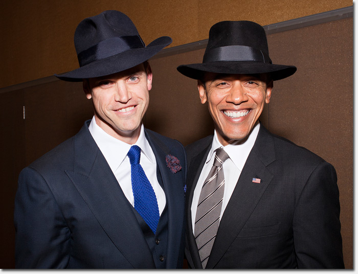 Photo  President Obama looking stylish in his fedora from Paul s Hat Works f5450c704eb