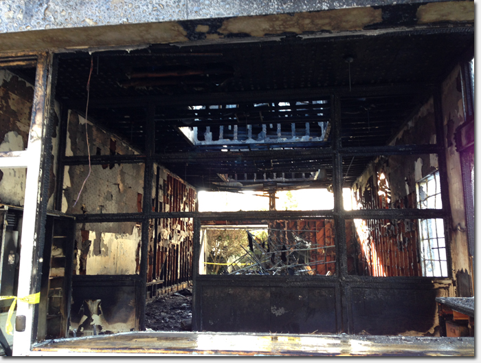 Part of Internet Archive building badly burned in early