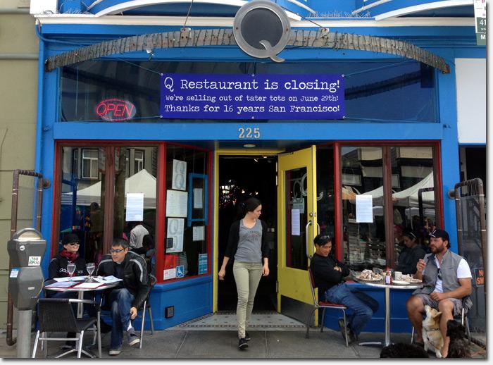 q restaurant closing june 29 after 16 years of serving funky comfort food richmond district blog. Black Bedroom Furniture Sets. Home Design Ideas