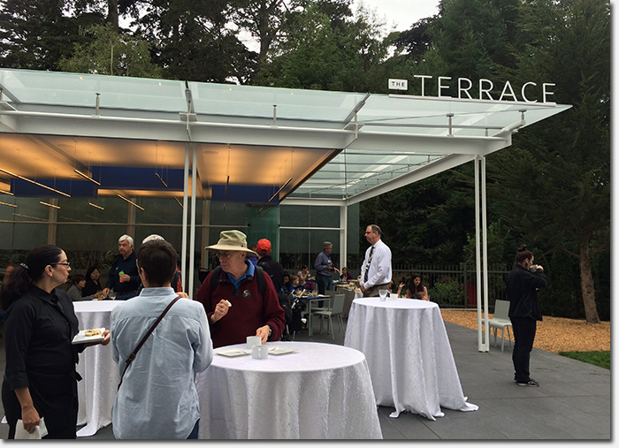 Academy of sciences opens the terrace cafe for garden for The terrace restaurant