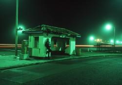 Beach Bus Stop by Barbara Landis
