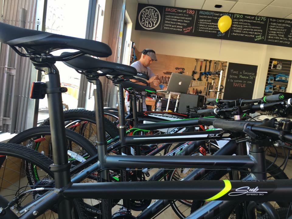 Spoke Easy bike shop is now open at 1901 Clement. Photo by Spoke Easy.