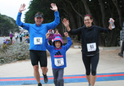 Crossing the finish line at the 2016 Richmond District Jog in the Fog