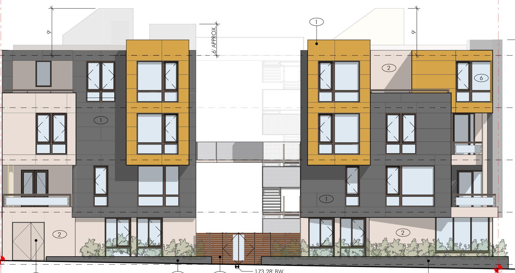 Two 4 Story Apartment Buildings Proposed For Current Gas Station Lot At 4th California
