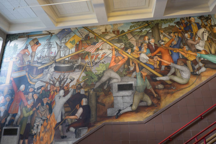 Historic WPA murals at George Washington High School are facing destruction due to controversial depictions of Native Americans and African-Americans – Richmond District Blog